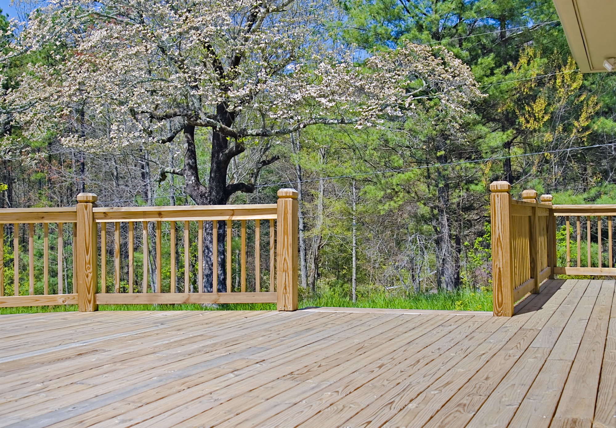 Wood Deck On House