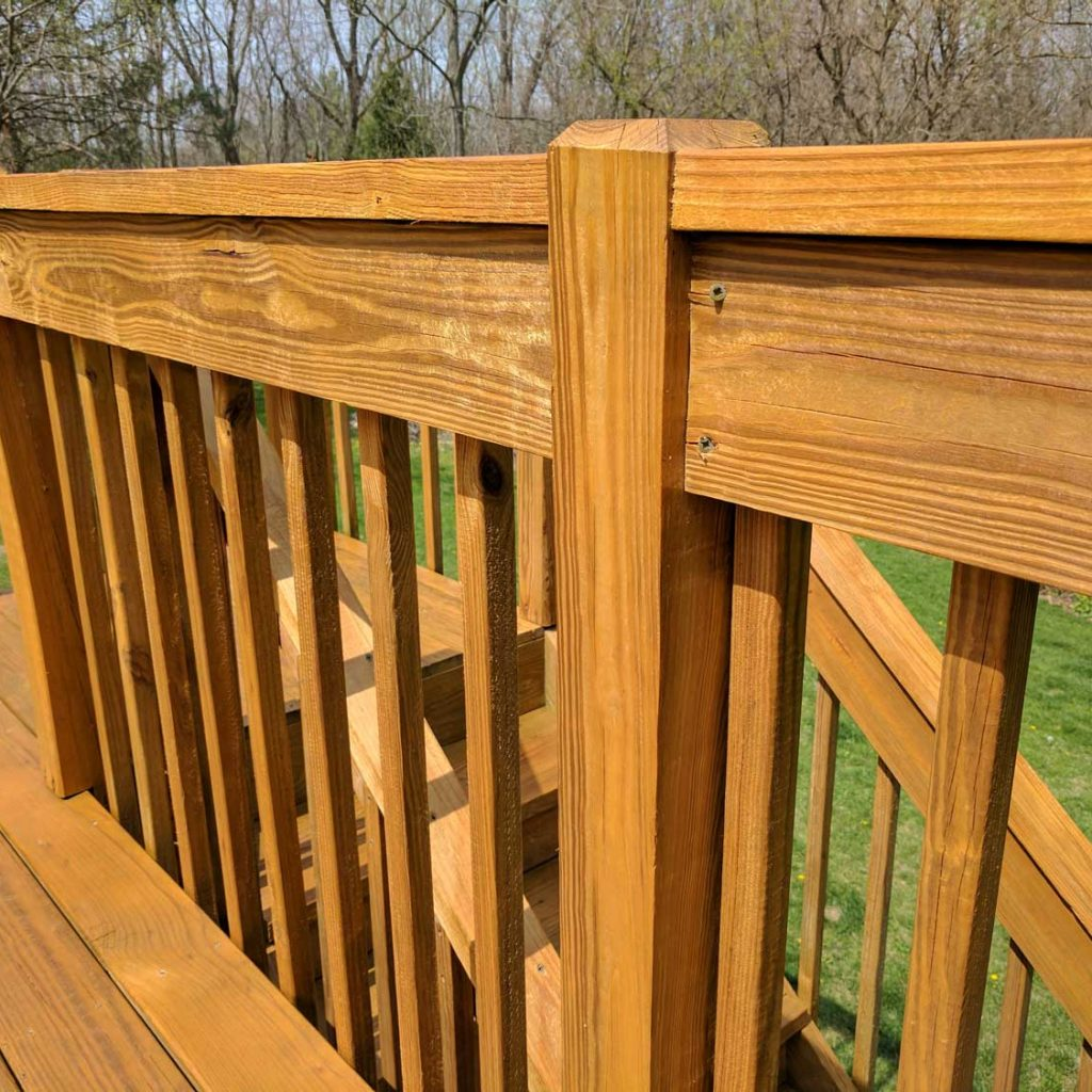 Wood Stain: Finished Railing