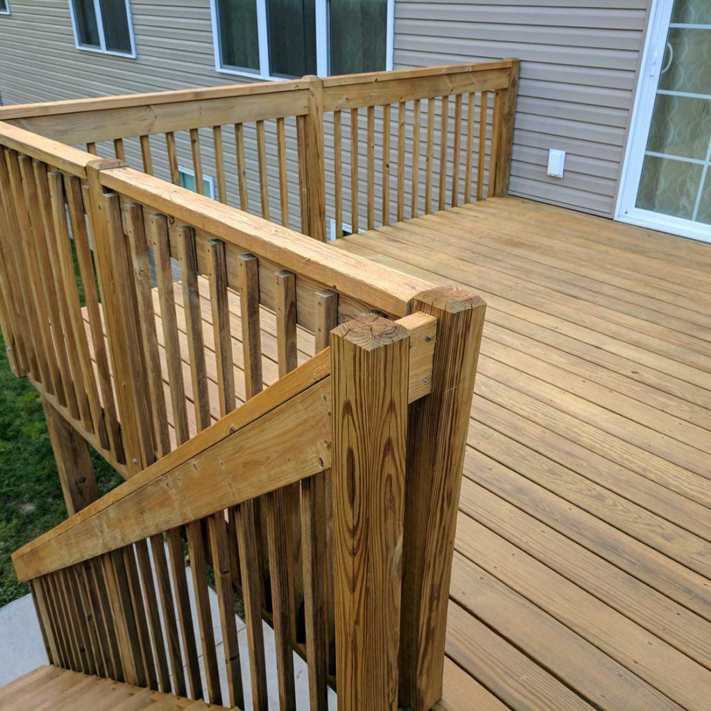 Wood Stain: Finished Handrail